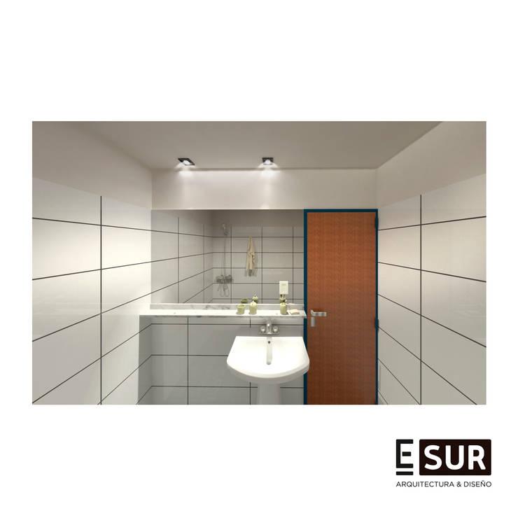 Depto AI: Baños de estilo  por EstudioSUR,