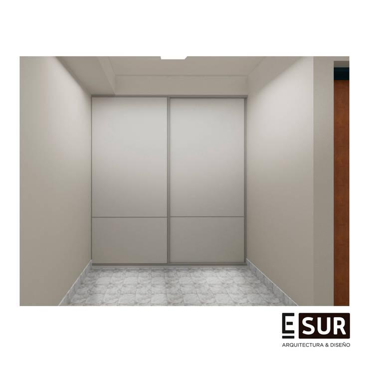 Depto AI: Dormitorios de estilo  por EstudioSUR,