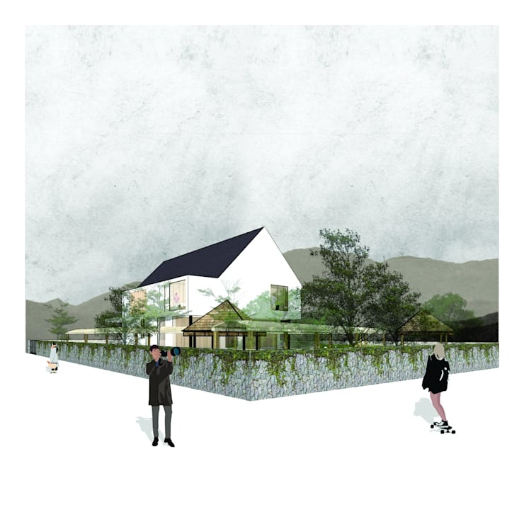 Villa Trawas:   by AKARA Studio