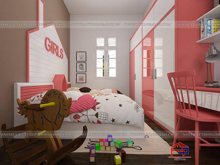Ảnh 3D thiết kế nội thất phòng ngủ bé gái nhà anh Tú ở Bắc Ninh:  Bedroom by Nội thất Hpro