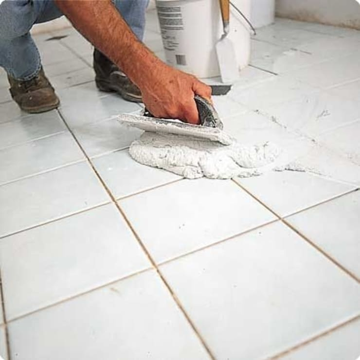 So sánh xi măng trắng vàkeo chít mạch perfect:  Walls & flooring by Công ty TNHH truyền thông nối việt