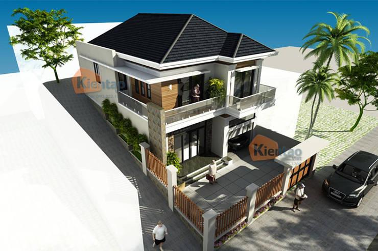 Mẫu biệt thự 2 tầng mái thái đẹp lung linh tại Sơn La – BT 99:   by CÔNG TY CỔ PHẦN XD&TM KIẾN TẠO VIỆT