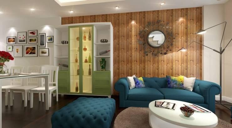 Nội thất mẫu nhà phố đẹp hiện đại đa sắc màu:  Household by CÔNG TY CỔ PHẦN XD&TM KIẾN TẠO VIỆT