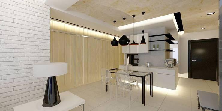 現代宅:   by 沙瑪室內裝修有限公司