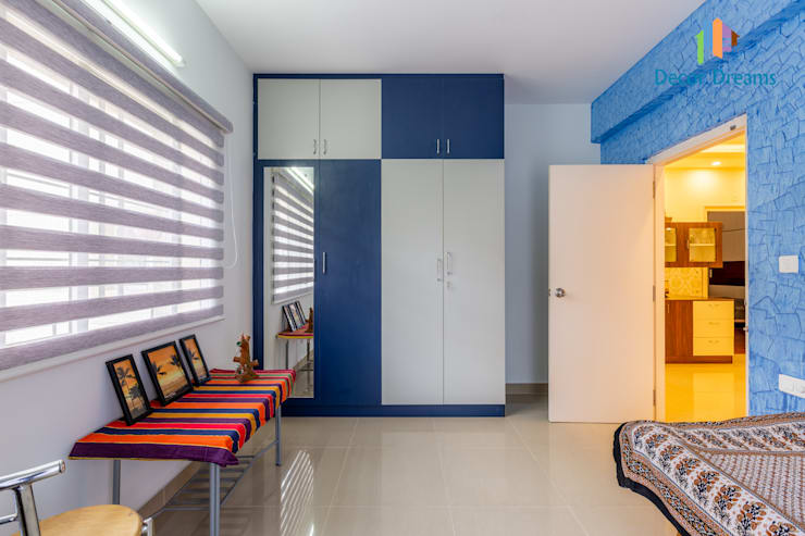 Valmark Aastha, 3 BHK - Mr. Anup & Ms. Harshitha:  Bedroom by DECOR DREAMS