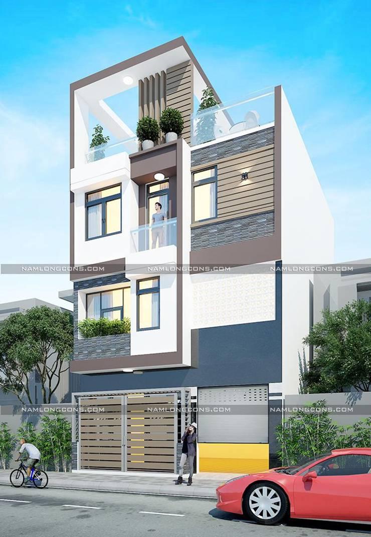 Thiết kế nhà rộng 7m dài 11m:   by Nam Long construction