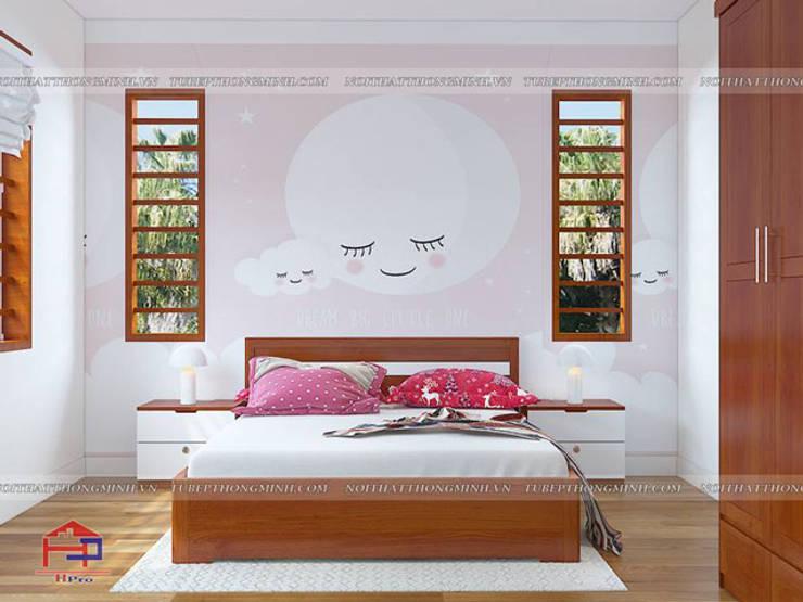 Ảnh 3D thiết kế nội thất phòng ngủ bé gái nhà anh Lý ở Vinh:  Bedroom by Nội thất Hpro