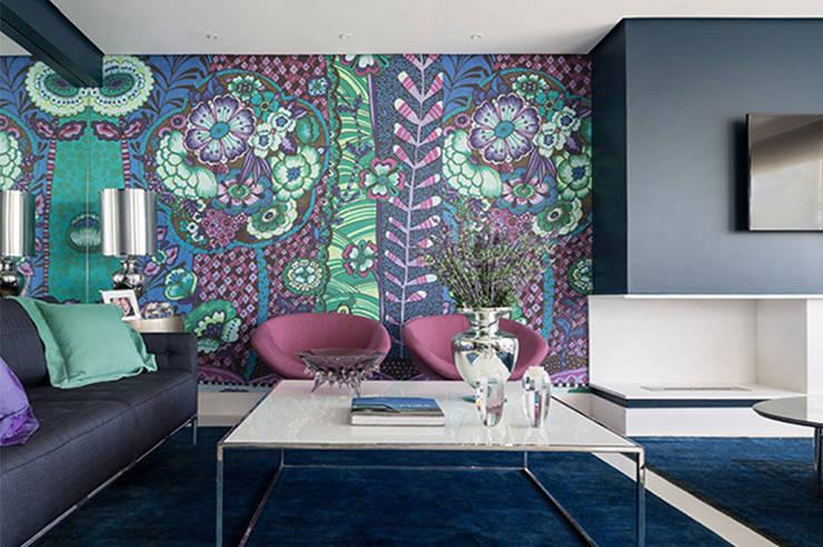Salas / recibidores de estilo  por Anne Báril Arquitetura