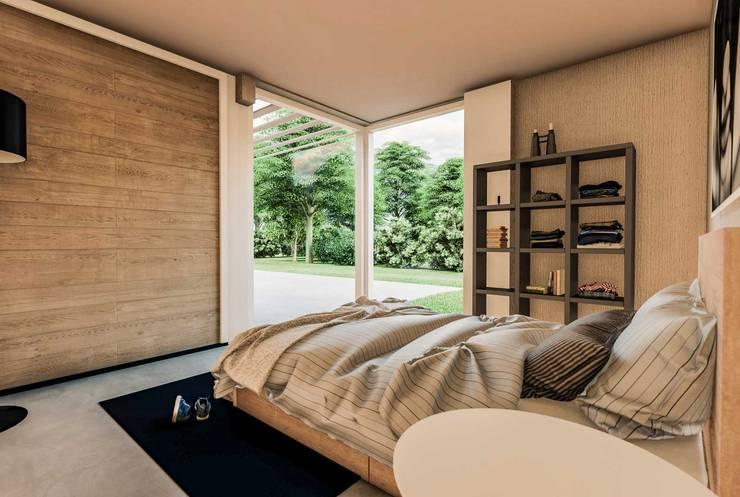 Levensloopbestendig wonen:  Slaapkamer door RABARB Architecten, Scandinavisch