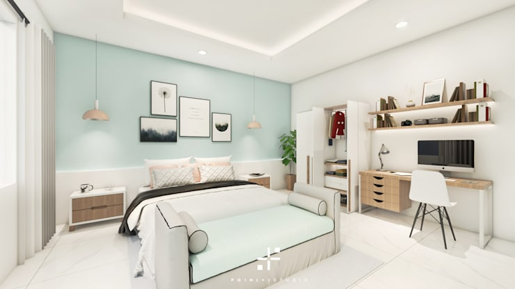Interior Kamar Mr.DS :   by Poin Plus Studio