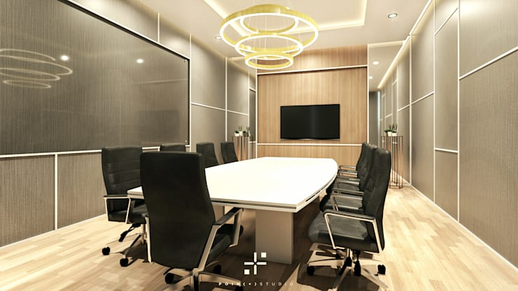 Ruang Meeting IE Office :   by Poin Plus Studio