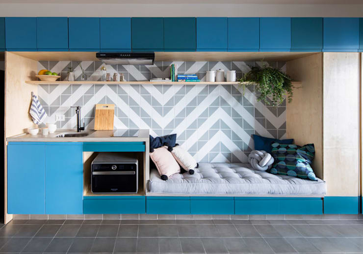 Living room by INÁ Arquitetura