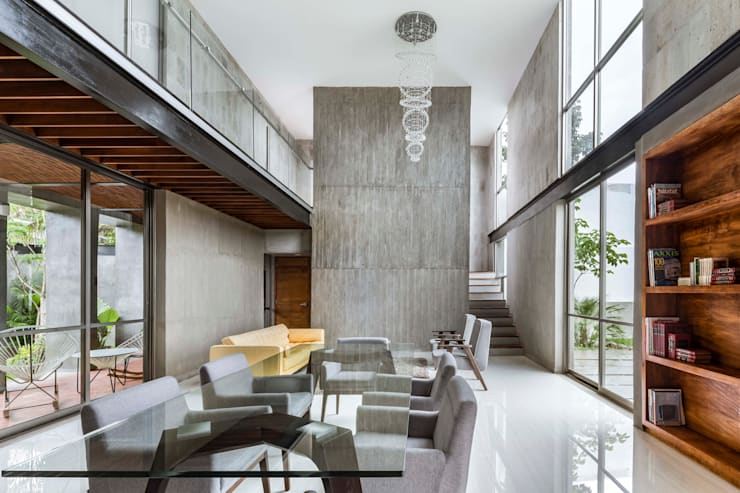غرفة المعيشة تنفيذ Apaloosa Estudio de Arquitectura y Diseño