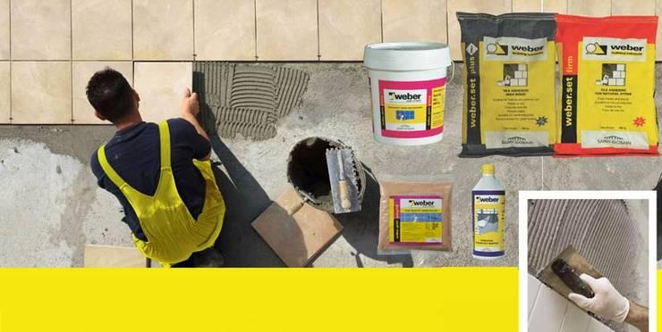 Ứng dụng của keo dán gạch đá Mapei:  Walls & flooring by Công ty TNHH truyền thông nối việt