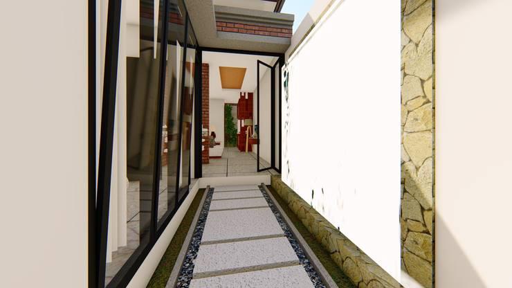 foyer:  Ruang Komersial by Aper design