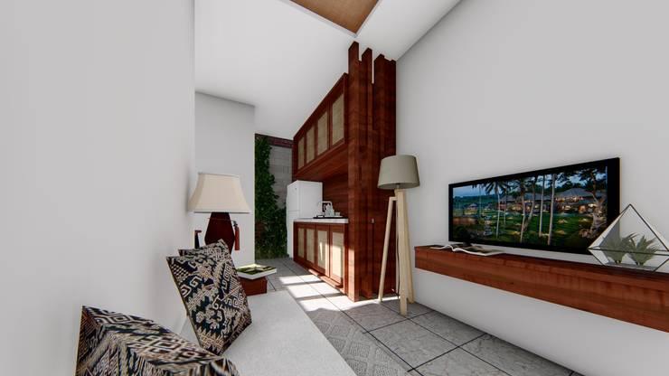 living room:  Ruang Komersial by Aper design