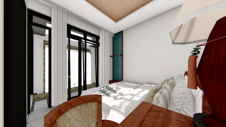 master bed room:  Ruang Komersial by Aper design