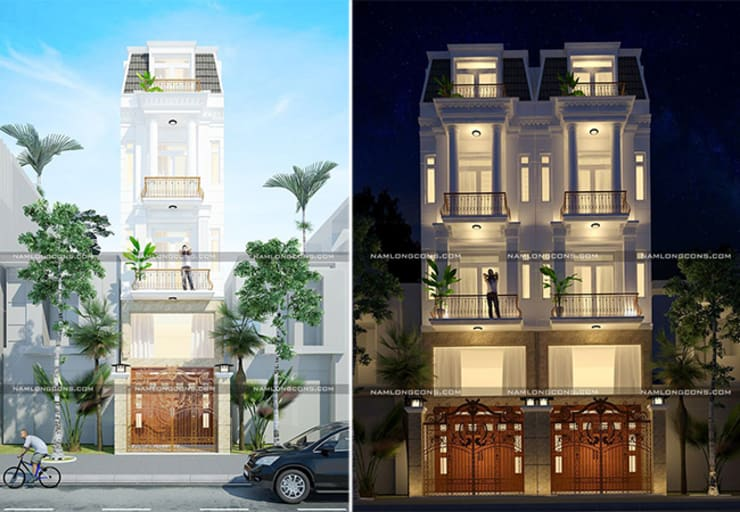 Nhà phố tân cổ điển:   by Nam Long construction