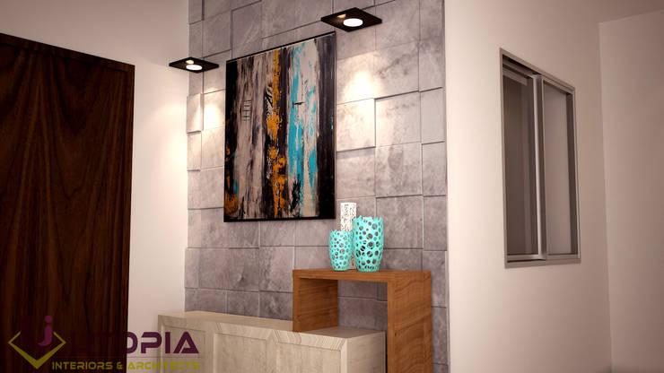 Interior design for MR.Sanjay:  Floors by Utopia Interiors & Architect,
