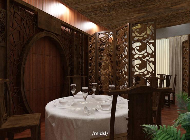 Chinese Restaurant :  Restoran by M I D S T Interiors
