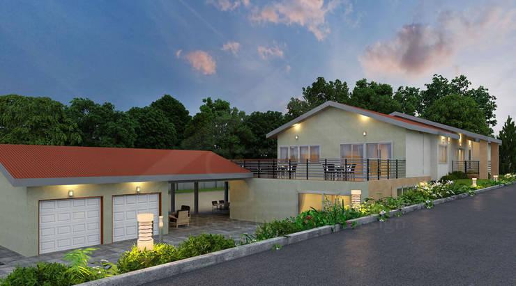 Hillsborough residence, California:  Single family home by S3DA Design, Modern Concrete