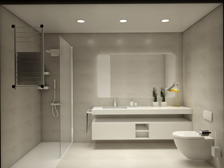 Moderne Badezimmer von Glim - Design de Interiores Modern