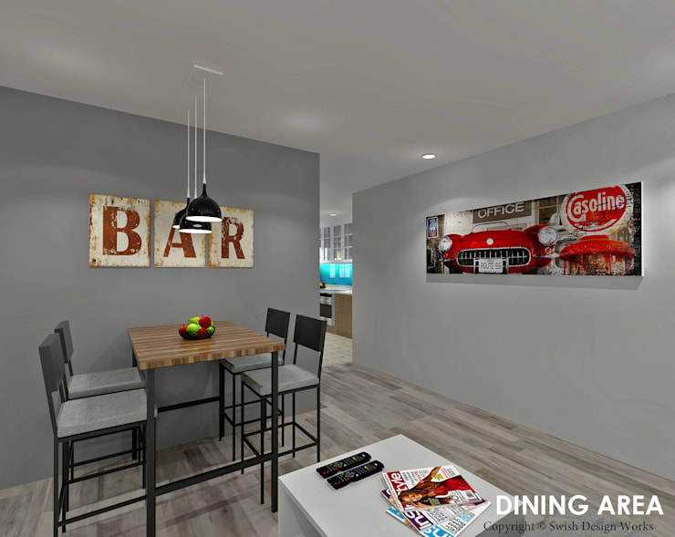 Hougang Street 22:  Dining room by Swish Design Works