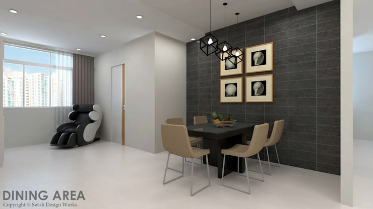 Ang Mo Kio Ave 10:  Dining room by Swish Design Works