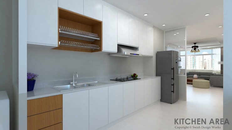 Ang Mo Kio Ave 10:  Built-in kitchens by Swish Design Works