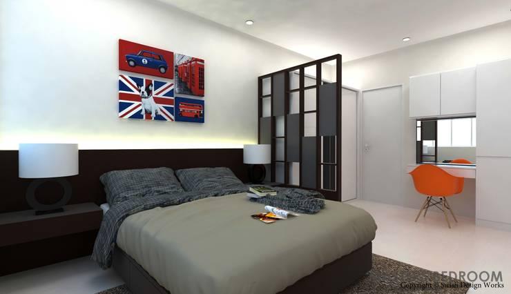 Ang Mo Kio Ave 10:  Small bedroom by Swish Design Works