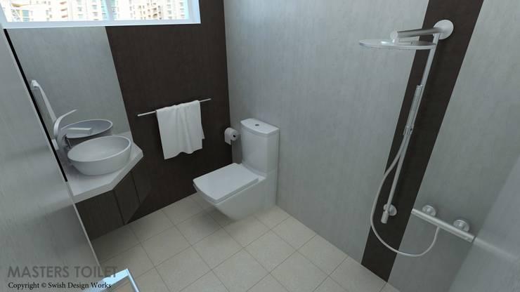 Ang Mo Kio Ave 10:  Bathroom by Swish Design Works