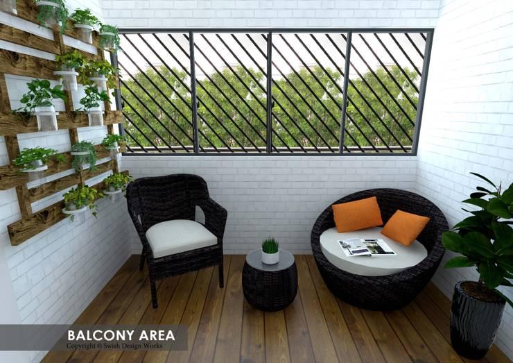 Serangoon Central:  Balcony by Swish Design Works