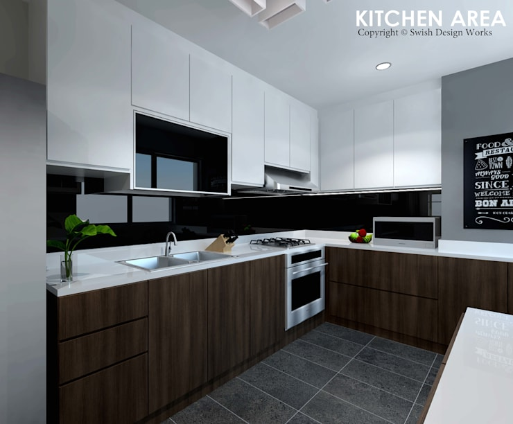 Ang Mo Kio Ave 3:  Kitchen by Swish Design Works