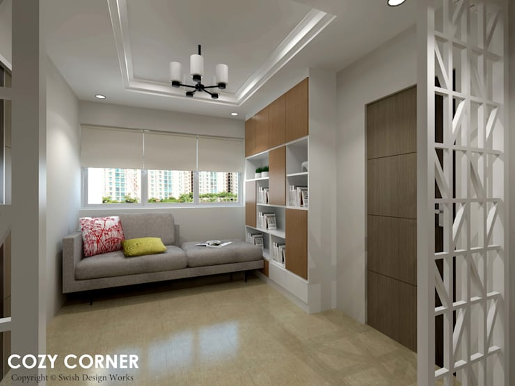 Ang Mo Kio Ave 3:  Corridor, hallway by Swish Design Works