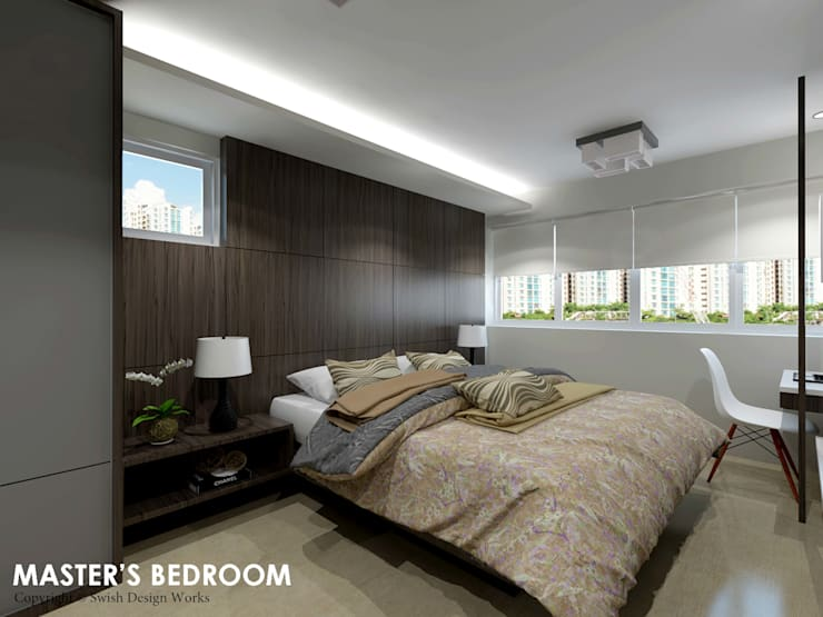 Ang Mo Kio Ave 3:  Small bedroom by Swish Design Works
