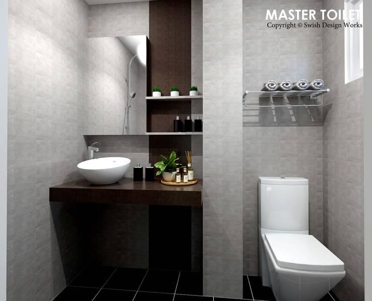 Ang Mo Kio Ave 3:  Bathroom by Swish Design Works