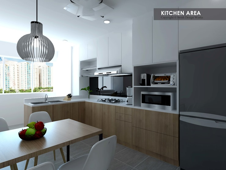 Potong Pasir Ave 1:  Built-in kitchens by Swish Design Works