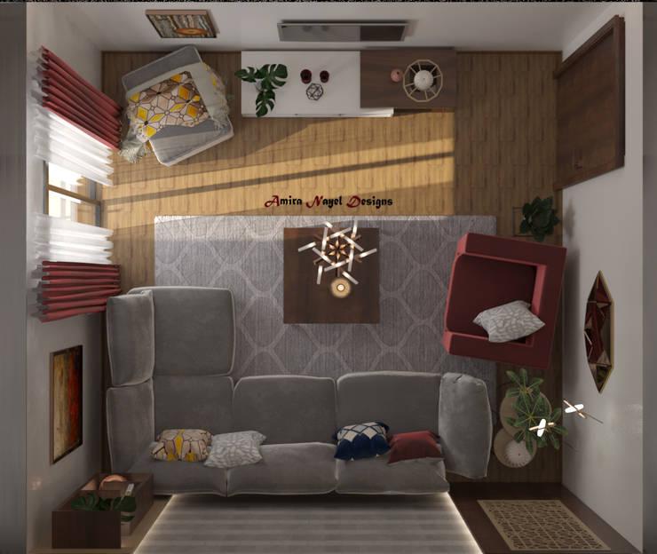 Salones de estilo  de AmiraNayelDesigns, Moderno