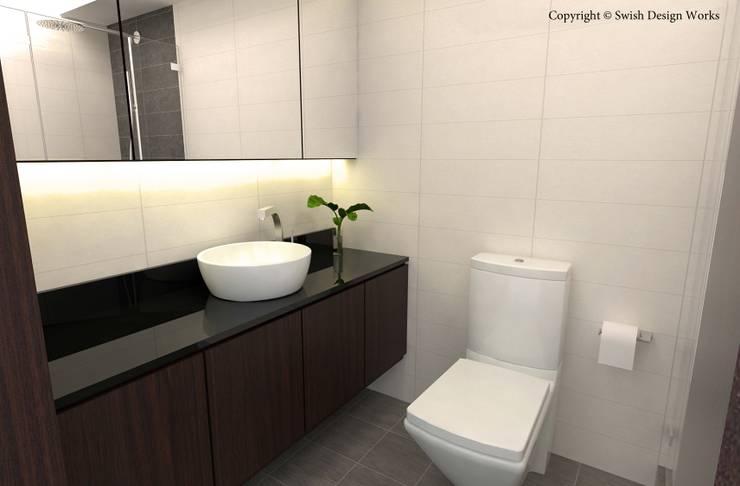 Jalan Tiga:  Bathroom by Swish Design Works
