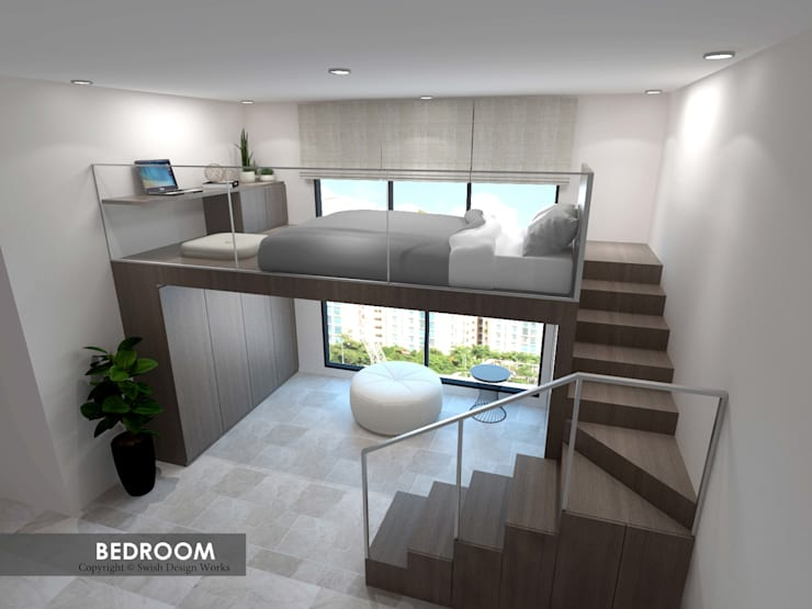 Simsville:  Living room by Swish Design Works,Modern