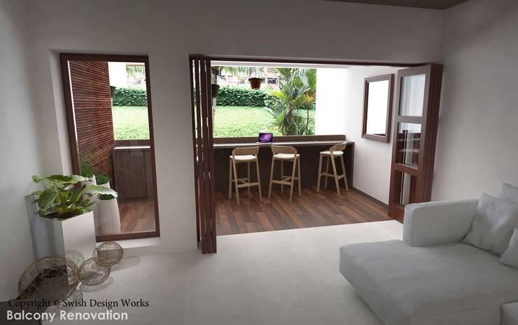 Spanish Village :  Balcony by Swish Design Works