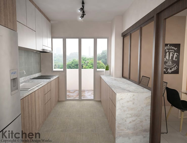 Yishun Ave 6:  Built-in kitchens by Swish Design Works