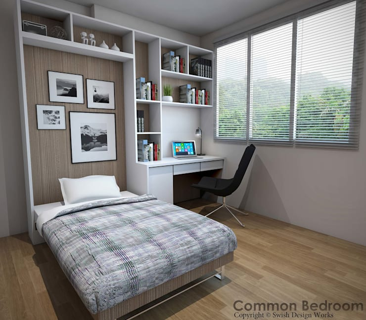 Yishun Ave 6:  Small bedroom by Swish Design Works