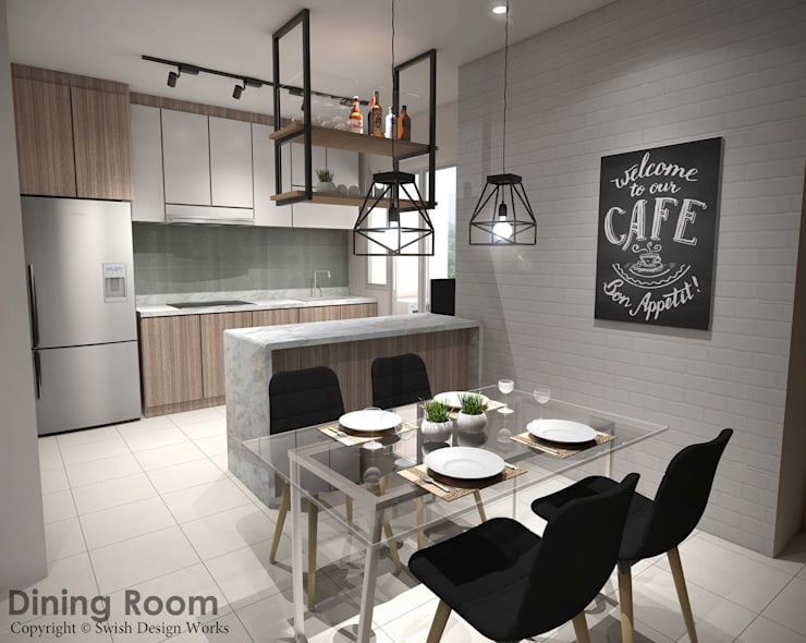 Yishun Ave 6:  Dining room by Swish Design Works
