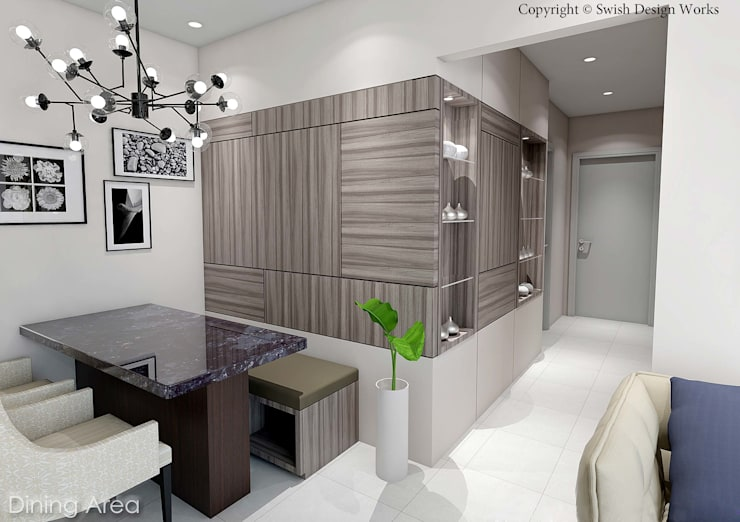 Kallang Trivista:  Dining room by Swish Design Works