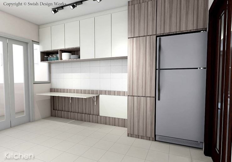 Kallang Trivista:  Built-in kitchens by Swish Design Works