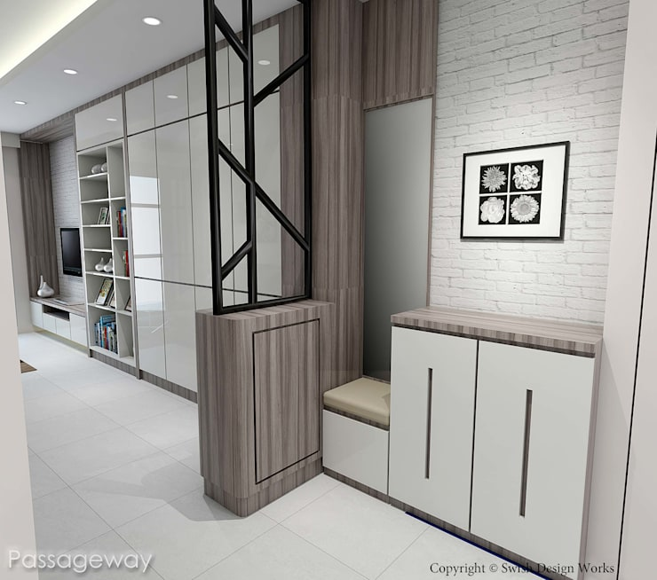 Kallang Trivista:  Corridor, hallway by Swish Design Works