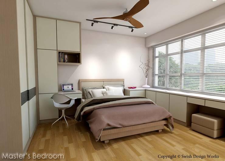 Kallang Trivista:  Small bedroom by Swish Design Works