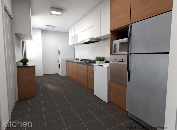 Serangoon North Ave 2:  Kitchen by Swish Design Works