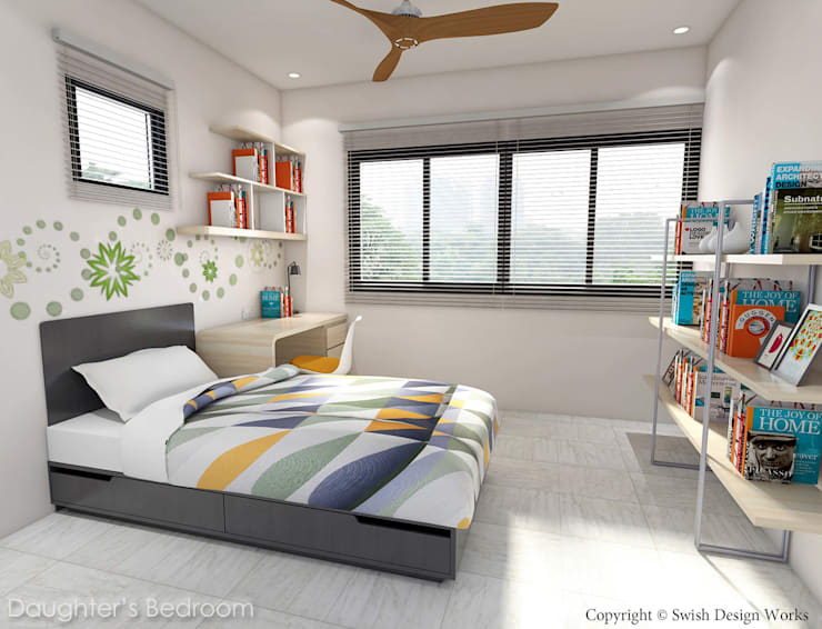Serangoon North Ave 2:  Small bedroom by Swish Design Works